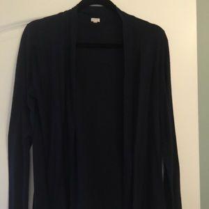 Navy blue cotton cardigan
